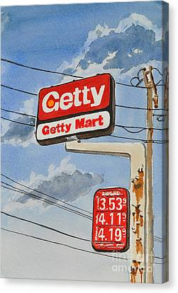 Getty Mart Canvas Print by Andrea Timm