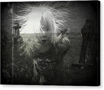 Ghost Child Canvas Print by Shirley Sirois