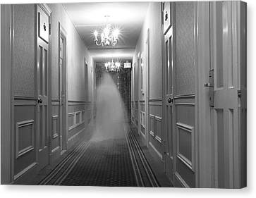 Ghost In The Hall At The Hawthorne Canvas Print by Steve And Donna O'Meara