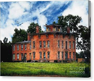 Ghost Of The Underground - Prospect Place Canvas Print by Lianne Schneider