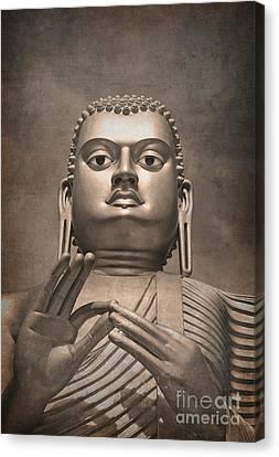 Giant Gold Buddha Vintage Canvas Print by Jane Rix