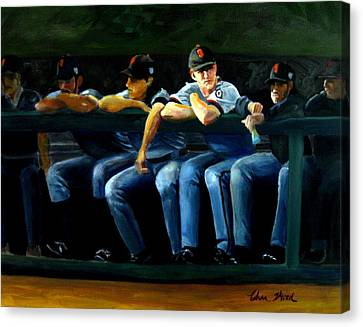 Giants Dugout Canvas Print by Char Wood