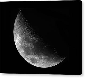 Gibbeous Moon Canvas Print by Charles Warren