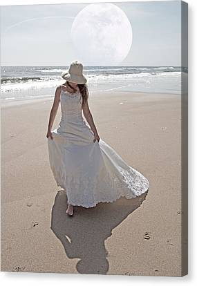 Gibbous Moon Gown Canvas Print by Betsy Knapp
