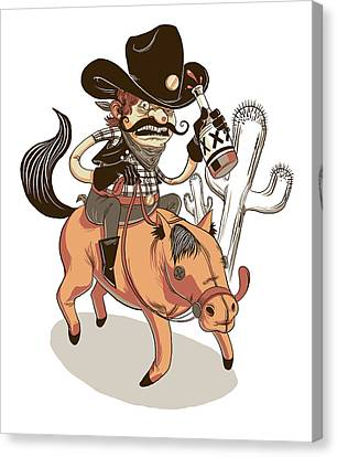 Giddy Up Canvas Print by Michael Myers