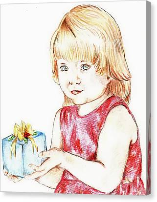 Gift Girl Canvas Print by Denny Phillips