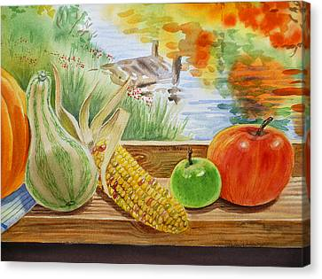 Gifts From Fall Canvas Print by Irina Sztukowski