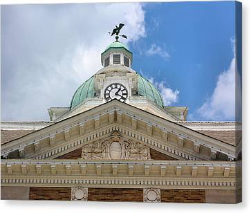 Giles County Courthouse Details Canvas Print by Kristin Elmquist