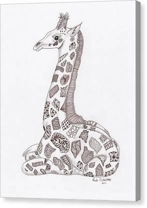 Giraffe Canvas Print by Paula Dickerhoff