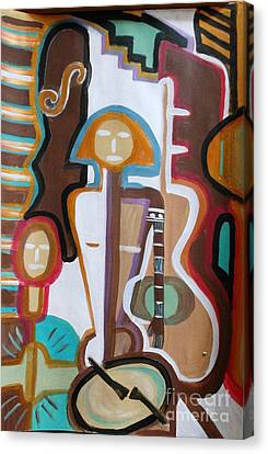 Girl Band Canvas Print by Marie Bulger