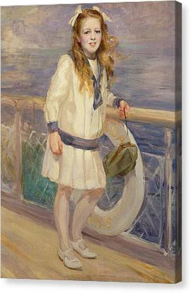 Girl In A Sailor Suit Canvas Print by Charles Sims