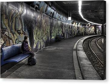 Girl In Station Canvas Print by Joana Kruse