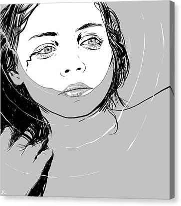 Girl In The Water Canvas Print by Giuseppe Cristiano