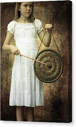 Girl With Gong Canvas Print by Joana Kruse