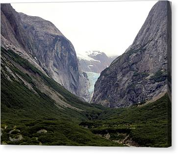 Glacier Pass Canvas Print by Mindy Newman