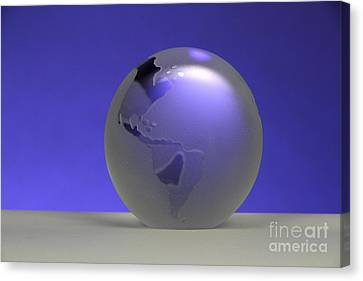 Glass Globe Canvas Print by Photo Researchers, Inc.
