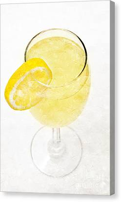 Glass Of Lemonade Canvas Print by Andee Design