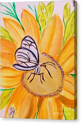 Glass Winged Butterfly Canvas Print by Marie Bulger