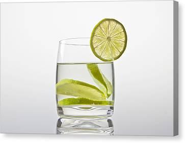 Glass With Lemonade Canvas Print by Joana Kruse
