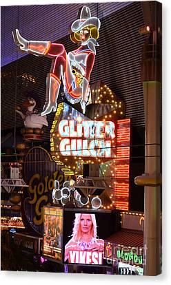 Glitter Gulch Las Vegas Canvas Print by Bob Christopher