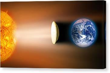 Global Warming Sun Shield, Artwork Canvas Print by Victor De Schwanberg