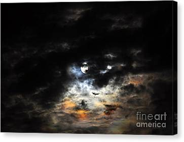 Glorious Gibbous - Wide Version Canvas Print by Al Powell Photography USA