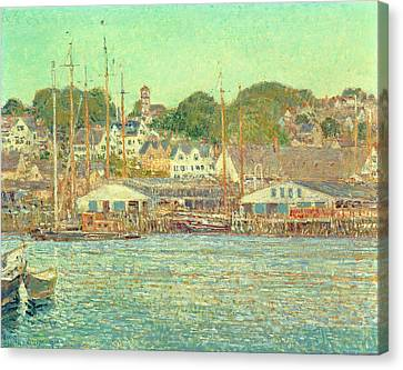 Gloucester Harbor Canvas Print by Childe Hassam