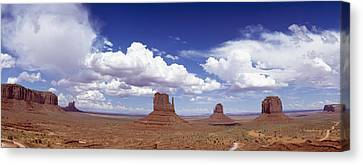 Glove Buttes And Clouds Canvas Print by Axiom Photographic
