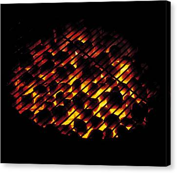Glowing Barbecue Canvas Print by G. Brad Lewis