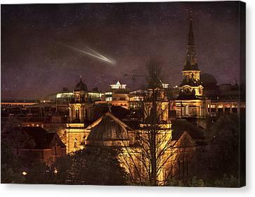 Glowing Edinburgh Canvas Print by Svetlana Sewell