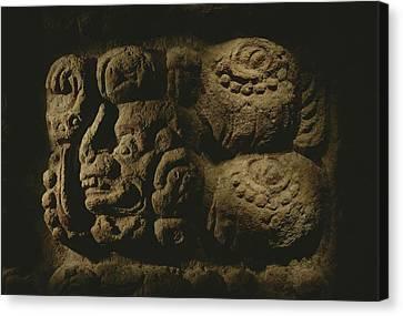 Glyph Representing The Mayan Rulers Canvas Print by Kenneth Garrett