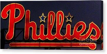 Go Phils Canvas Print by Snapshot  Studio