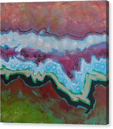 Go With The Flow 2 Canvas Print by Linda Krukar