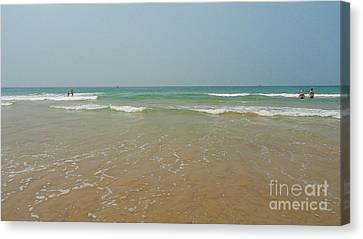 Goa Beach Canvas Print by Conceptioner Sunny