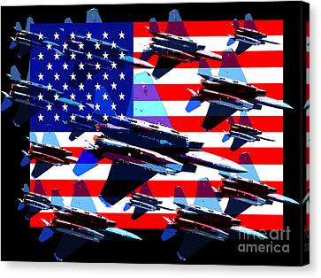 God Bless America Land Of The Free 2 Canvas Print by Wingsdomain Art and Photography