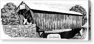 Goddard Covered Bridge Canvas Print by Kyle Gray