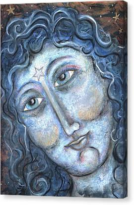 Goddess Of The Northern Star Canvas Print by Suzan  Sommers