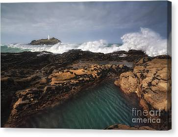 Godrevy Lighthouse In Cornwall, England Canvas Print by Arild Heitmann