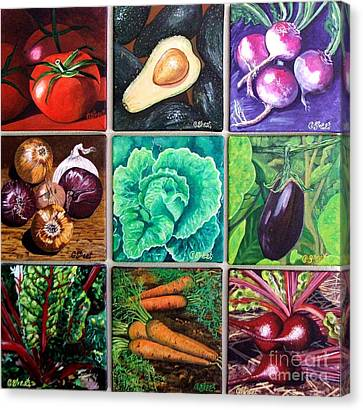 God's Kitchen Series Canvasses One To Nine Canvas Print by Caroline Street