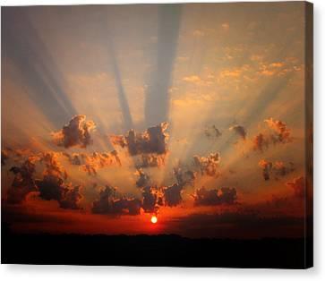 God's Morning Gift Canvas Print by Deon Grandon