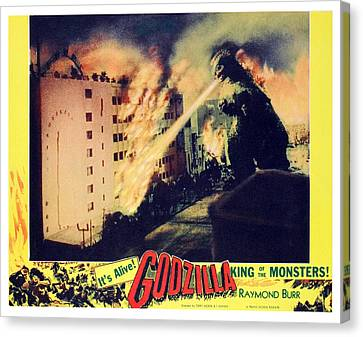 Godzilla, King Of The Monsters, 1956 Canvas Print by Everett