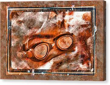 Goggles Canvas Print by Mauro Celotti