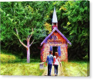Going To The Chapel Canvas Print by Jai Johnson