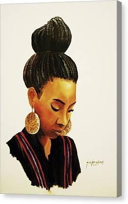 Gold Canvas Print by Jun Jamosmos