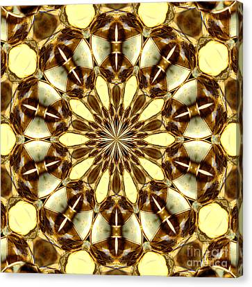 Gold Medallion 2 Canvas Print by Susan Smith