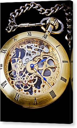 Gold Pocket Watch Canvas Print by Garry Gay