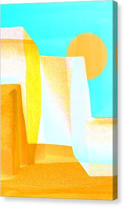 Golden Canyons Canvas Print by Carol Leigh