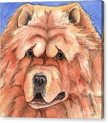 Golden Chow Chow Dog Canvas Print by Cherilynn Wood