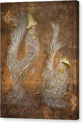 Golden Crowns Canvas Print by Cindy Wright
