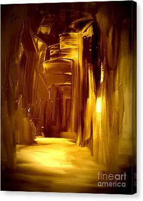 Golden Future Canvas Print by Julie Lueders